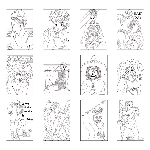 ColoringDeck Black Girl Power