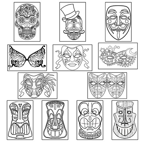 ColoringDeck Mask Mania