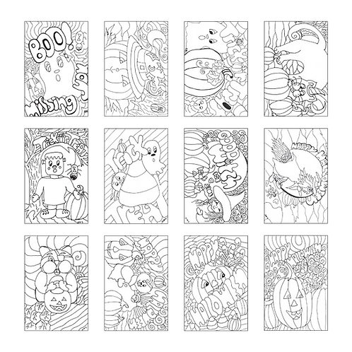 ColoringDeck Halloween Treats