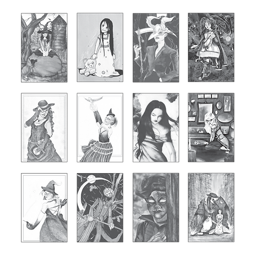 ColoringDeck Ghouls and Gals