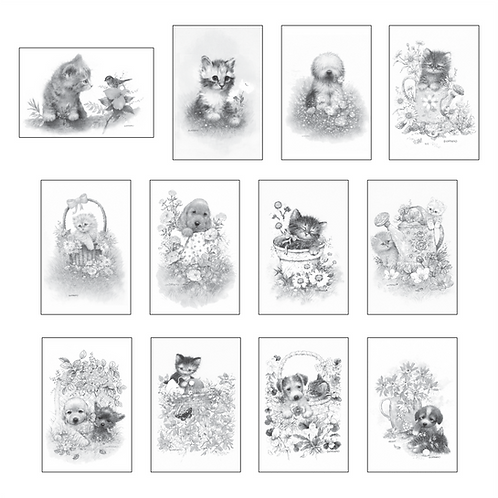 ColoringDeck Puppies & Kittens