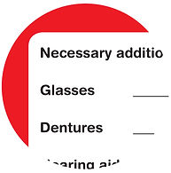 Snap-shot of Medi-SOS ID Form - inserted into the MEDI-SOS Grab-bag