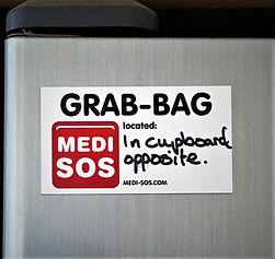 Ideas for Medi-SOS fridge magnet placement
