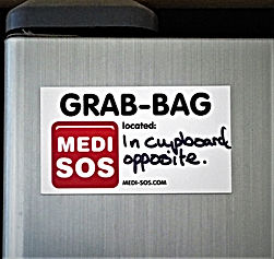 Ideas for Medi-SOS fridge magnet placement