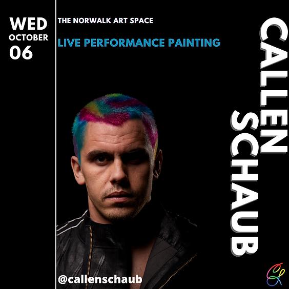 Live Painting with Callen Schaub - Performance #1
