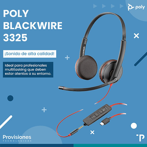 Poly Blackwire 3225