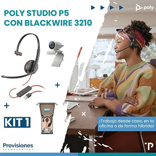 Poly Studio P5 con Blackwire 3210