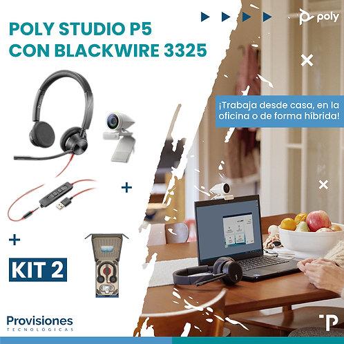 Poly Studio P5 con Blackwire 3325
