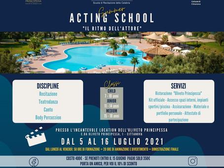 """""""Acting Summer School - Il ritmo dell'attore"""", il campus estivo promosso dalla SRC"""