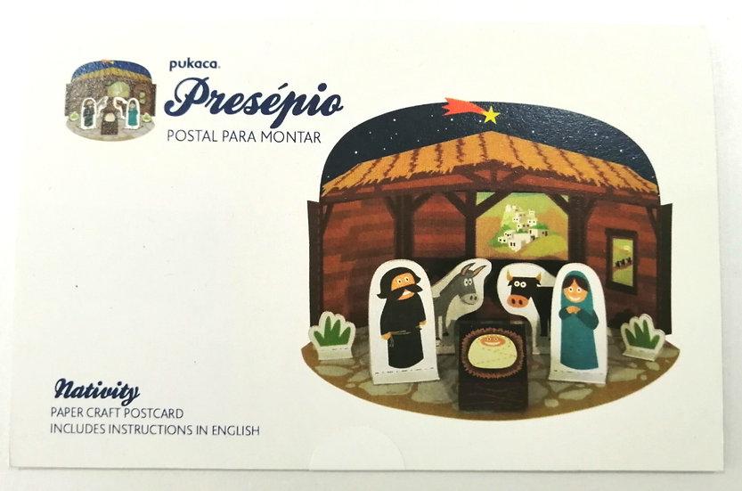 Postal Presépio PUKACA