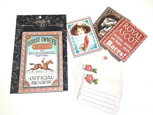 Ephemera Cards GRAPHIC 45 Off The Races