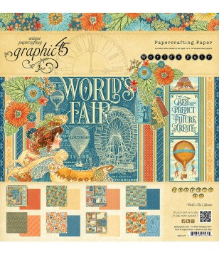 Bloco Scrapbooking GRAPHIC45 Worlds Fair