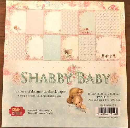 Conj. Scrap CRAFT & YOU Shabby Baby
