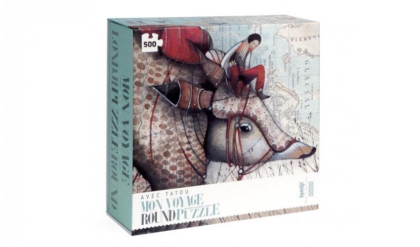 Avec Tatou Mon Voyage Round Puzzle LONDJI