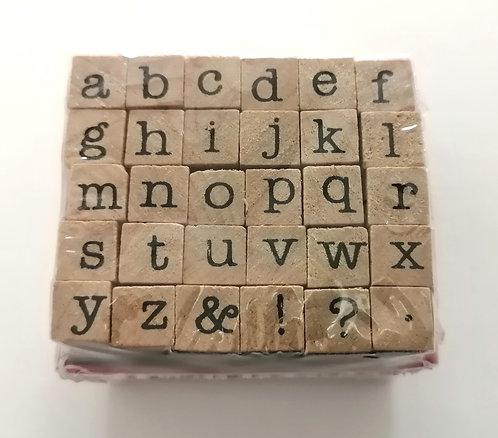 Carimbos Alfabeto letras minusculas