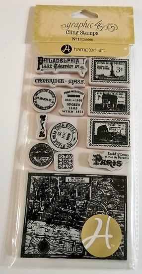 Carimbos GRAPHIC 45 Cityscapes 2