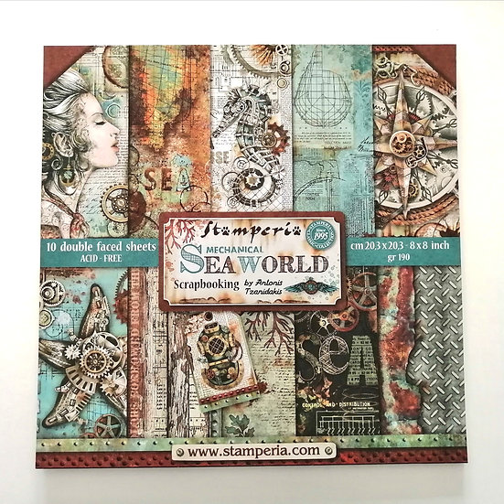 Conjunto de Scrapbook Sea World