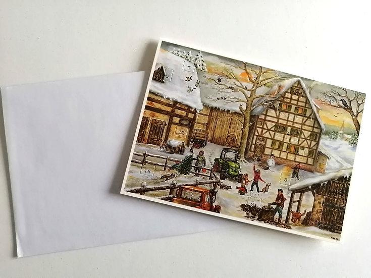 Postal/Calendário de Natal Presépio