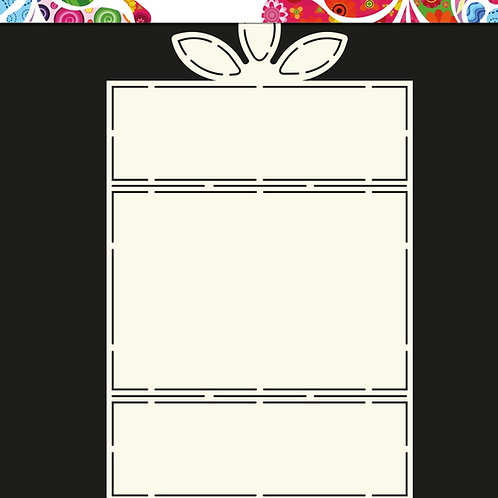 Molde Cartão com Flor