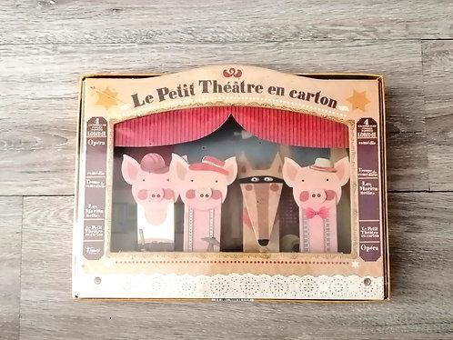 Teatro em cartão Três Porquinhos