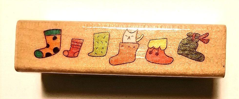 Carimbo meias de Natal