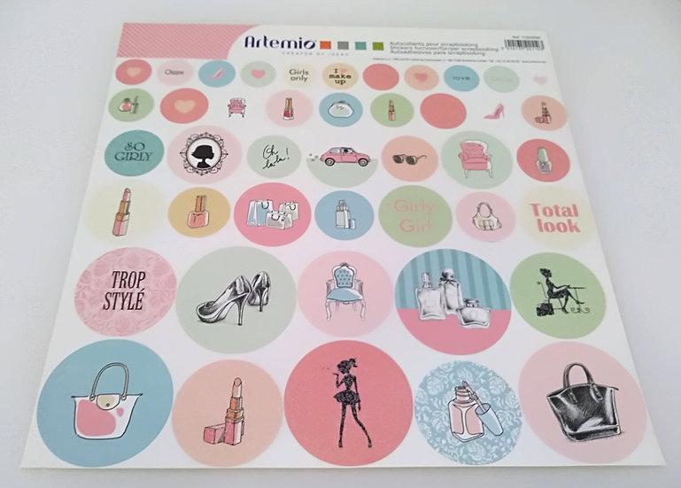 Stickers para Scrapbooking ARTEMIO