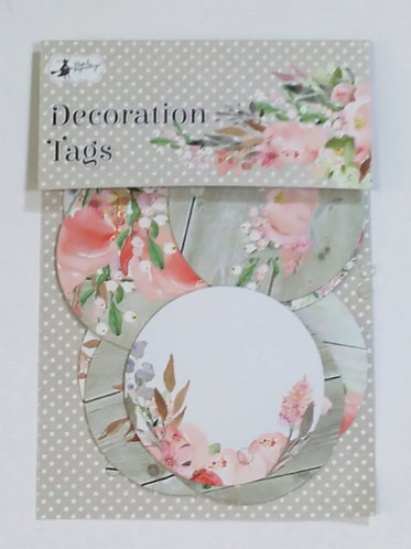 Tags decorativas PIATEK Love in Bloom