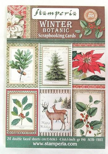 Cartões Scrapbooking WINTER BOTANIC