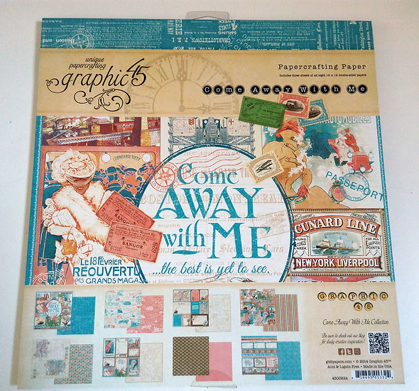 Bloco Scrap GRAPHIC 45 Come Away With Me