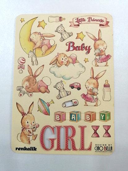 Aplicações de Madeira Baby Girl