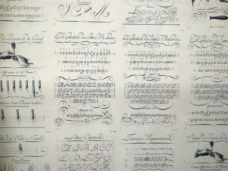 Papel Decoupage Caligrafia