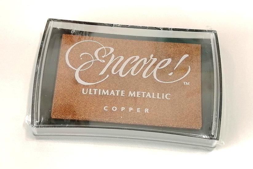 Almofada ARTOZ cobre metalizado