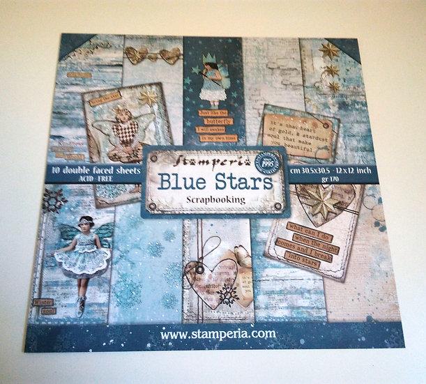 Conjunto Scrap Blue Stars