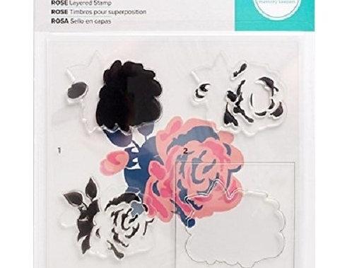 Carimbos de Silicone Rosa