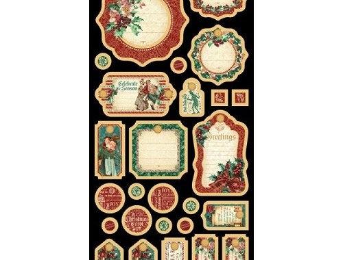 Etiquetas GRAPHIC 45 Christmas Carol Collection
