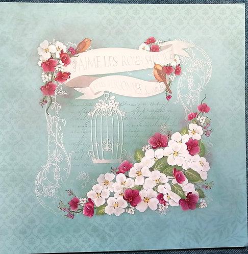 Conj. LITOARTE Romantic Flowers
