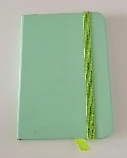 Caderno A7 Verde água