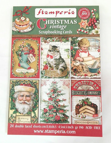 Cartões Scrapbooking CHRISTMAS VINTAGE