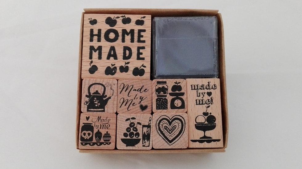 Carimbos de madeira Home Made