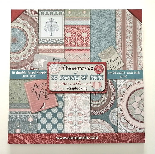 Conjunto de Scrapbook Secrets of India