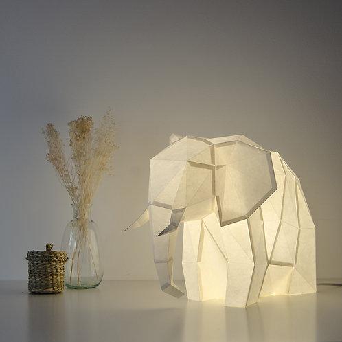 Papercraft Kit Big Elephant Sandy beige