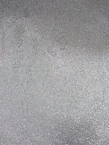 Papel Glitter autocolante prata