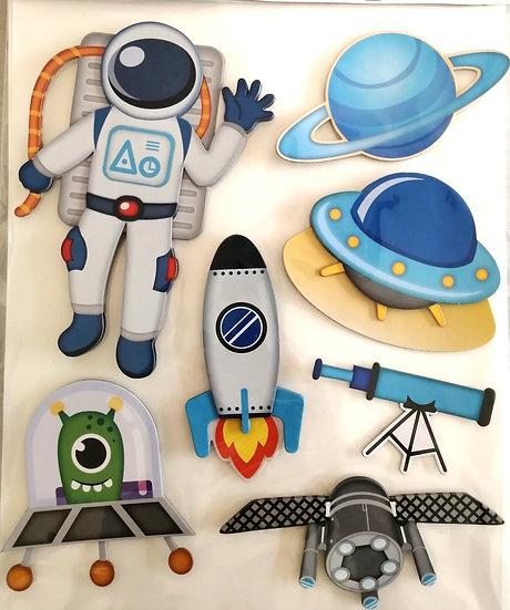 Aplicações Autocolantes 3D