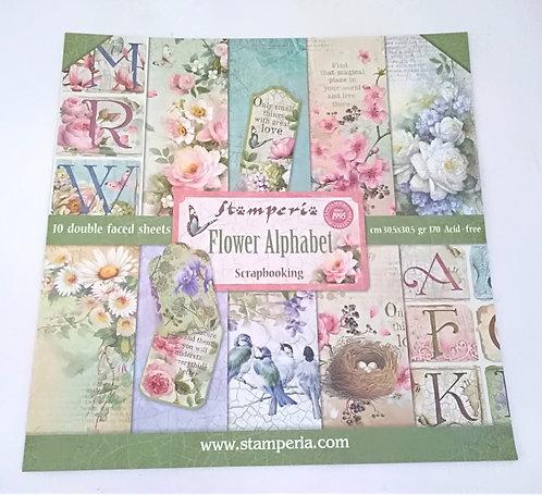 Kit Scrap STAMPERIA Flower Alphabet