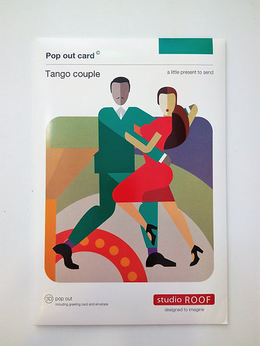 Pop Out Card Tango Couple