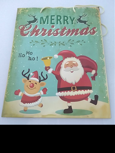 Saco de papel Pai Natal