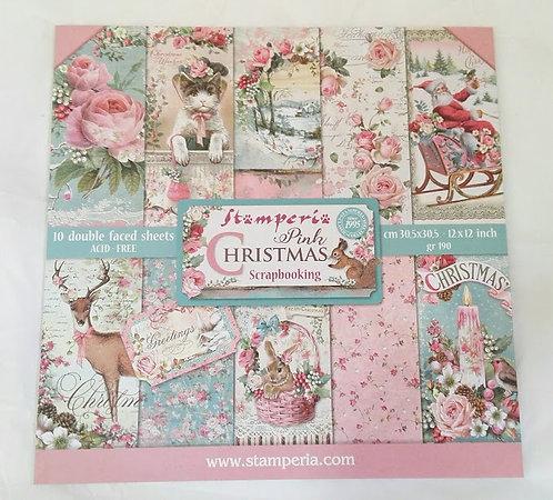 Kit para Scrapbooking PINK CHRISTMAS