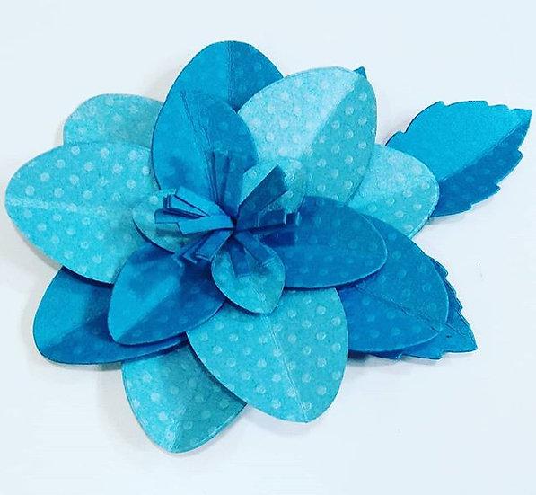 Flor de papel Azul