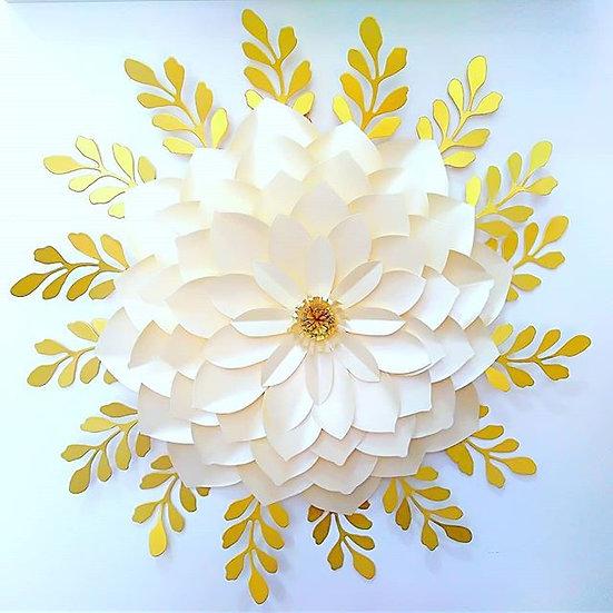 Flor de papel Gigante