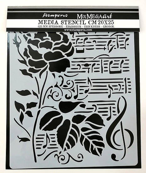 Stencil Mixed Media